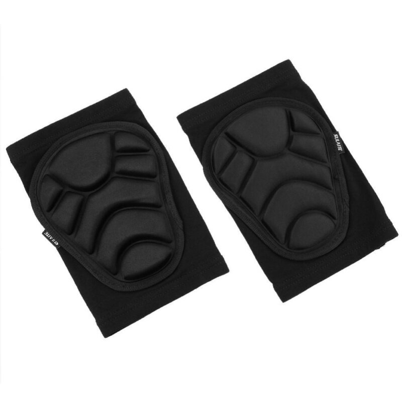 Protective Knee Pads Knee Protecting Kit for Skiing Skating Riding(Black)-L