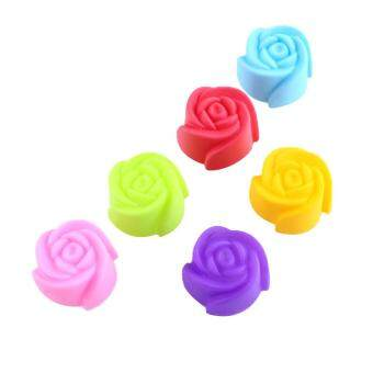 Rose Cake Decorating Baking Chocolate Mold Pan Muffin Jelly Cups Soap Mould DIY