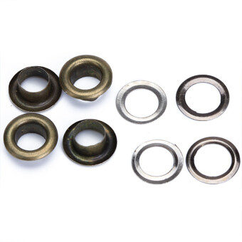 Round Eyelets Grommets 10mm Antique Brass Set of 100