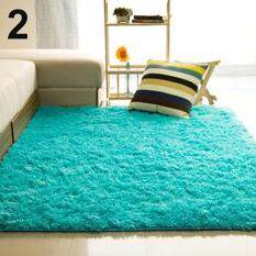 SanwoodR Living Room Bedroom Home Anti Skid Soft Shaggy Fluffy Area Rug Carpet Floor Mat Blue