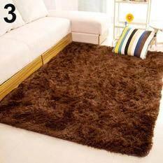 SanwoodR Living Room Bedroom Home Anti Skid Soft Shaggy Fluffy Area Rug Carpet Floor Mat Brown