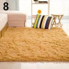 SanwoodR Living Room Bedroom Home Anti Skid Soft Shaggy Fluffy Area Rug Carpet Floor Mat Khaki