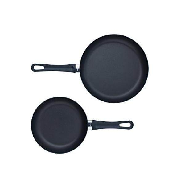Scanpan Klasik 2 Piece Fry Pan Set, Hitam-Internasional
