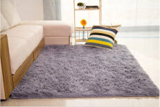 shaggy anti skid carpets rugs floor matcover 80x120cm grey - Home Decor Malaysia