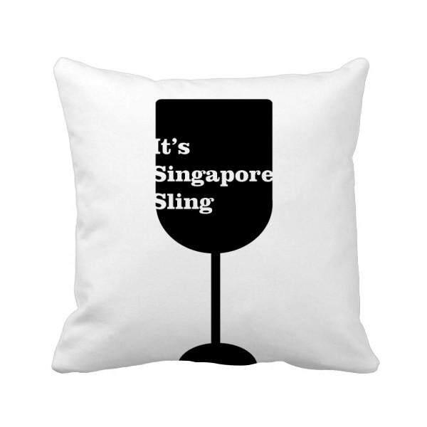 Siluet Singapore Sling Koktail Bantal Bantal Sarung Bantal Sofa Rumah Dekorasi Hadiah-Internasional