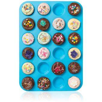 Silicone Muffin Pan / Tin Cupcake Mold by Daisy's Dream - 24 Cup Silicone Pan / Baking Tray - Easy To Use - Simple To Clean