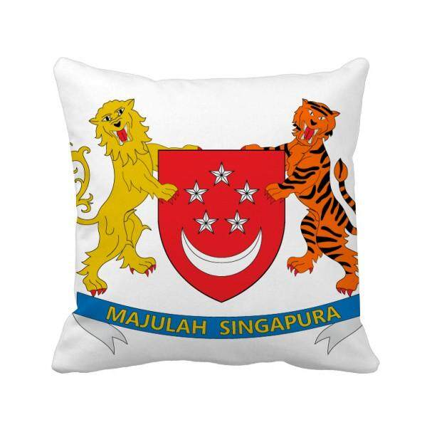 Singapore Asia National Emblem Square Throw Pillow Insert Cushion Cover Home Sofa Decor Gift - intl
