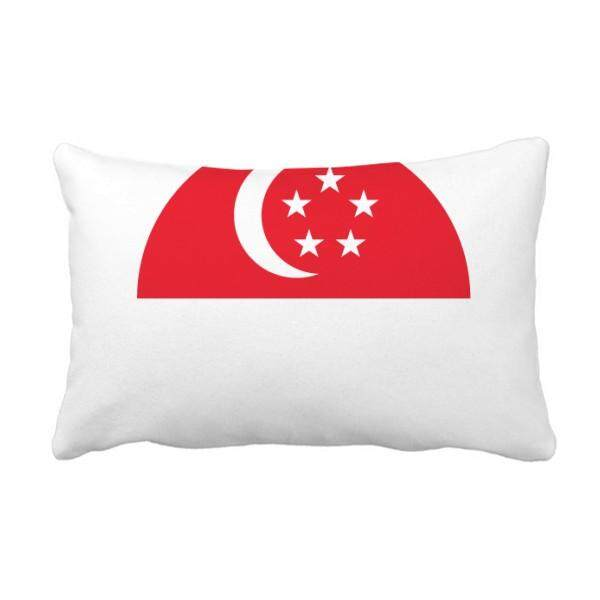 Singapore National Flag Asian Symbol Throw Lumbar Pillow Insert Cushion Cover Home Sofa Decor Gift - intl