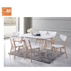 SKL 1 6 IKEA DINING SET WHITEWASH