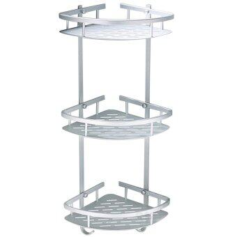 SOKANO 3 Tiers Aerospace Aluminium Bathroom Corner Shelf