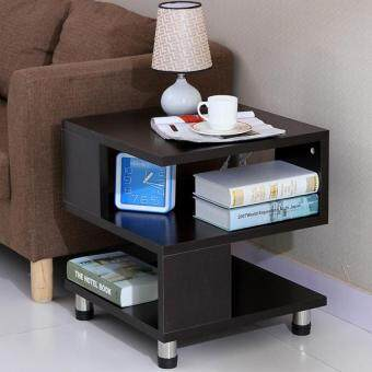 SOKANO Square Shaped Simple Coffee Table/ Sofa Side Table- Black