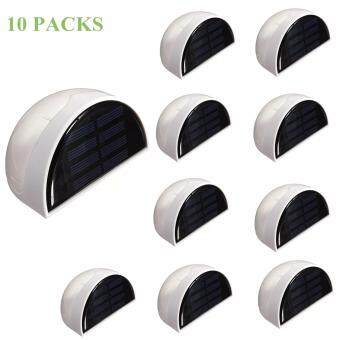 Solar Powered Wall Sensor Light Accent Lighting Waterproof 6 LEDPractical Acent Lighting 10 Packs Warm White