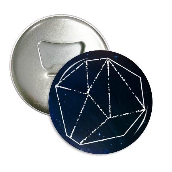 Bintang Biru Kristal Universe Langit Fantasi Sepanjang Pembuka Botol Magnet Kulkas Lencana Tombol 3 Pcs Hadiah-Internasional
