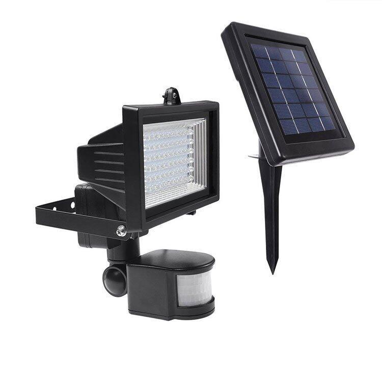 solar powered 60leds 10w motion sensor security light for outdoor. Black Bedroom Furniture Sets. Home Design Ideas