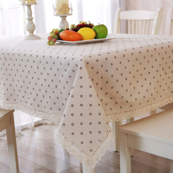 Tablecloth fabric Linen small fresh are rectangular dining tablecloth coffee table cloth tablecloths cover cloth towel Mat can becustomized