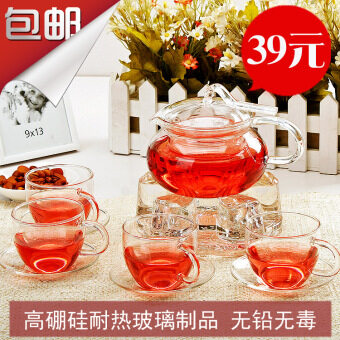 Teapot-resistant high temperature glass tea pot flowers and Tea Fruit teapot suit ribbon pot 500ml pressure the pot
