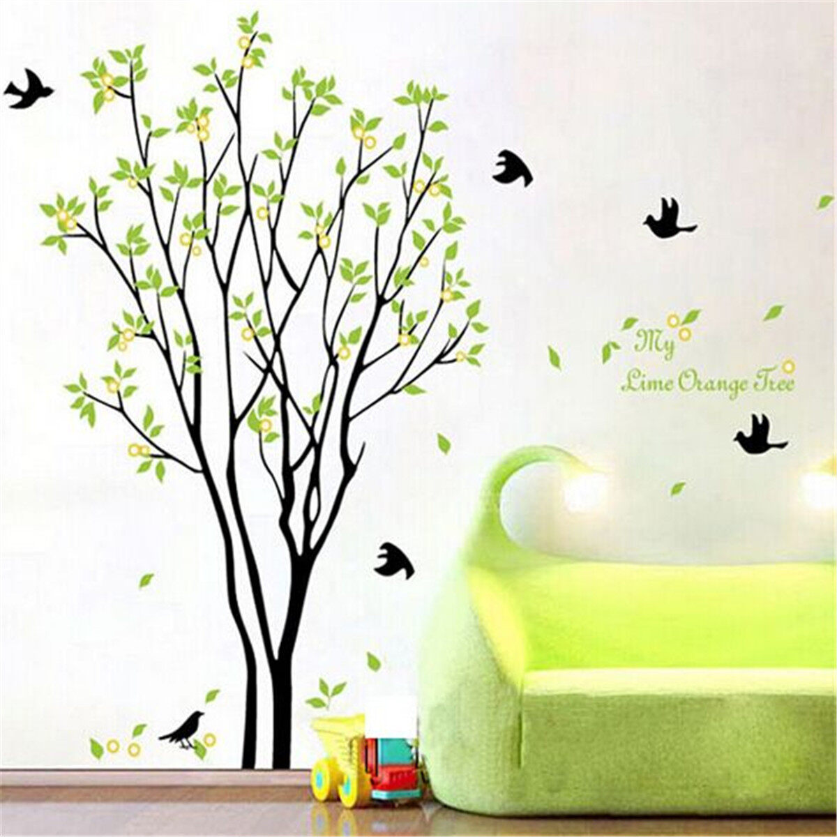 Tree Bird Quote Removable Vinyl Wall Decal Mural Home Art DIY - Diy wall decor birds