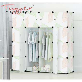 Tupper Cabinet 16 Cubes DIY Wardrobe- Leaf Design