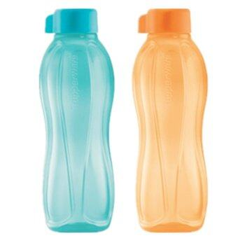 Tupperware Eco Bottles (FREE SHIPPING) 2x500ml BPA FREE Light Blue and Orange by NUMIT