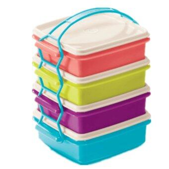 tupperware goody lunch box 4x790ml each new colour by. Black Bedroom Furniture Sets. Home Design Ideas