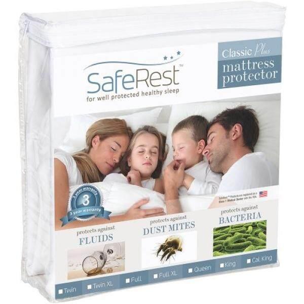 Kembar Ukuran Saferest Klasik Plus Anti-alergi 100% Anti-Air Mattress Pelindung-Vinil Bebas-Internasional