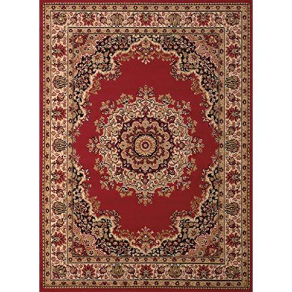 United Weavers of America Dallas Floral Kirman Rug, 5 x 8, Red - intl