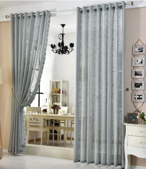 Valances pure Colors Tulle Sheer Voile Door Window Curtain DrapePanel New 1.5x2.7m-gray