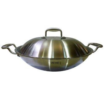 vistart 3 ply stainless steel wok