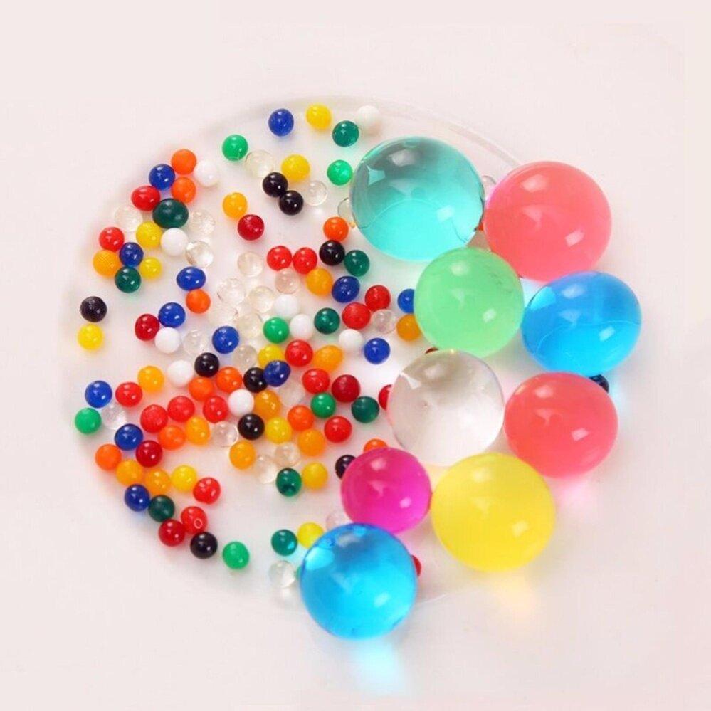 Water Beads, Crystal Water Bead Gel [Rainbow Mix] untuk Pengalaman Indrawi Taktil, Orbeez Refill, Vacuum Vacuum Center Center, Tanah, Dekorasi Tanaman 50g-Intl