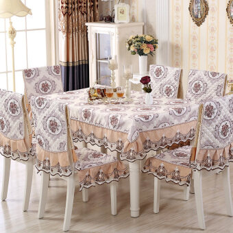 Water Lotus pastoral cover coffee table cloth dining chair cushion table cloth