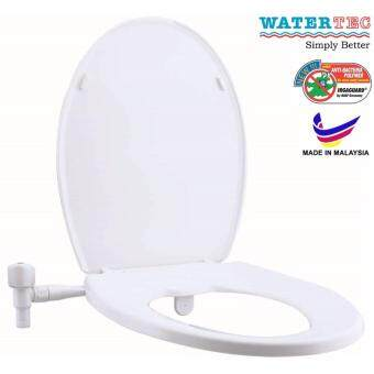 Watertec Sanlux Bidet Kit + Medium Duty Toilet Seat Set White