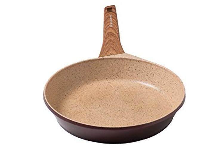 Waxonware 11 Inch Non Tongkat Skillet & Fry Pan dengan Induksi Bawah & Marbellous (100% PFOA Lapisan Bebas dibuat Di Jerman) -untuk Menggoreng, Dangkal Penggorengan, Penggorengan & Braising-Internasional