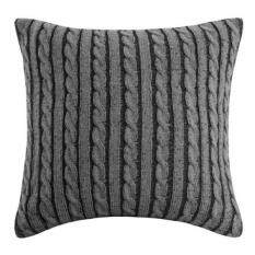 Woolrich Williamsport Square Pillow, 18 By 18 Inch, Black/Greyborana