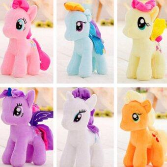23 cm My Little Cute Pony Horse Stuffed Plush Soft Kids Teddy Doll Gift - Yellow