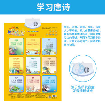 AOLE-HW cognitive pinyin with pictures toys with sound hanging picture