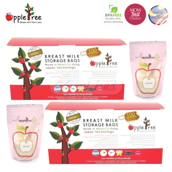 Apple Tree Breastmilk Storage Bag (100pcs) 8oz* (2packs)