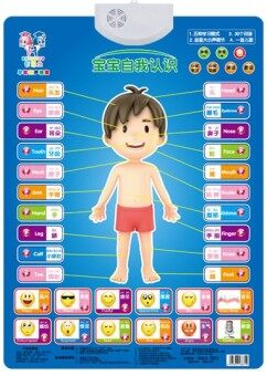 Baby Baobao full set children's voice pinyin hanging picture with sound hanging picture