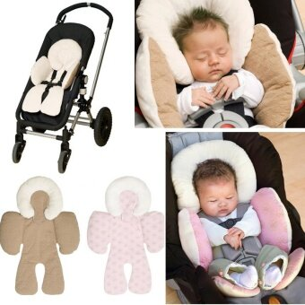 Baby Infant Safety Car Seat Stroller White Soft Cushion Pad Liner Mat Head Neck Body Support Pillow
