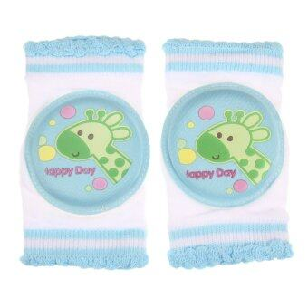 Baby Safety Crawling Elbow Cushion Knee Pads (Blue)