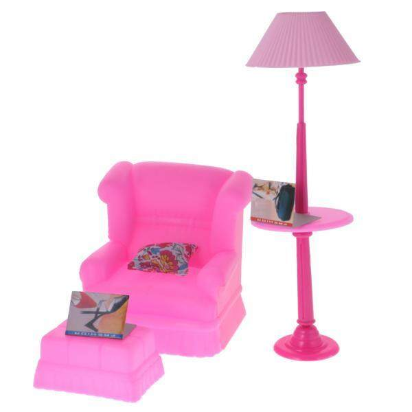 BolehDeals Luxury Plastic Furniture Play Set for Barbie Dolls House Lounge - intl
