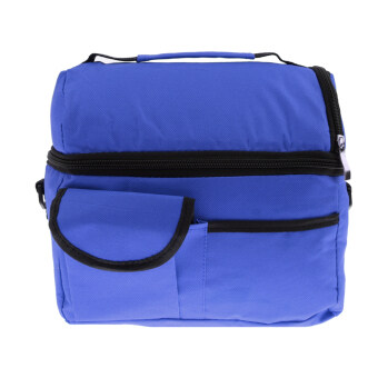 BolehDeals Thermal Insulated Bag Cooler Bag Picnic Lunch Bags MummyBaby Bags Deep Blue