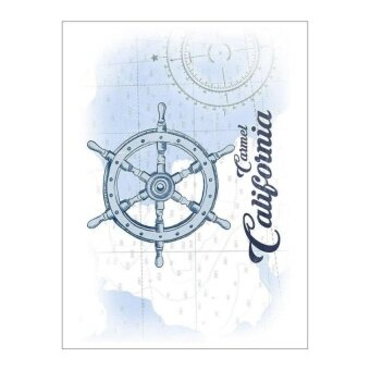 Carmel. California-Roda Kapal-Biru-Ikon Pesisir (PlayingCardDeck-52 Kartu Poker Ukuran dengan Joker) -Intl