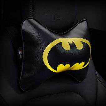 Cartoon Superhero Car Seat Head Rest Cushion Pillows Neck PillowHeadrest Cusion PU Leather Auto Supplies # 9 Batman Print