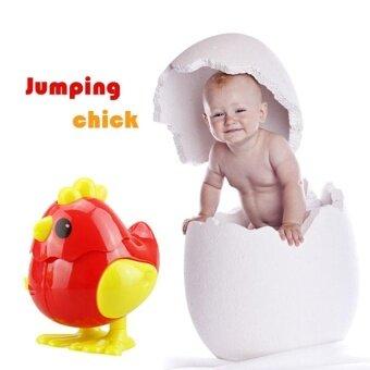 Chick Bounce Bayi Mainan Tin Tin Robot Mainan untuk Anak-anak Robotchicken Spinner Fidget Mainan Bayi Chick Berjalan Mainan Musik -Internasional