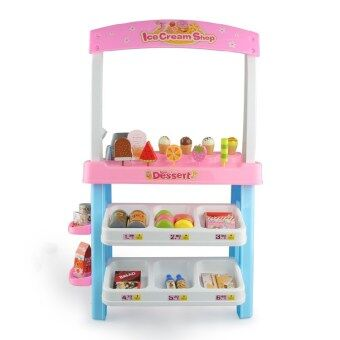 Children over every family toys simulation food model ice creambarbecue trolley car shopping dessert supermarket checkout