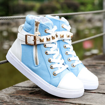 Children's high-top canvas shoes girls shoes Korean-style femalebig boy shoes tide high school students shoes 2017 autumn and NewStyle