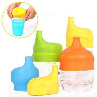 Creative Leak Proof Food Grade Silicone Sippy Lids Make Most Cups aSippy Cup