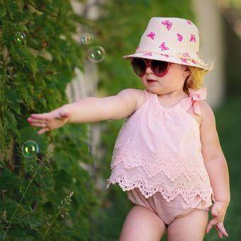 Cute Kids Baby Girl Summer Clothes Romper Jumpsuit Bodysuit OutfitLace Dress(pink)