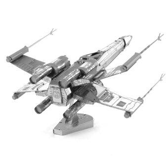 DIY 3D Three-Dimensional Jigsaw Puzzle Assembled Metal X-wingFighter Aircraft Model Educational Toy