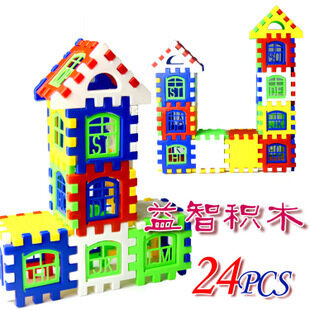 DIY assembled building blocks house-shaped lettered toy house building blocks